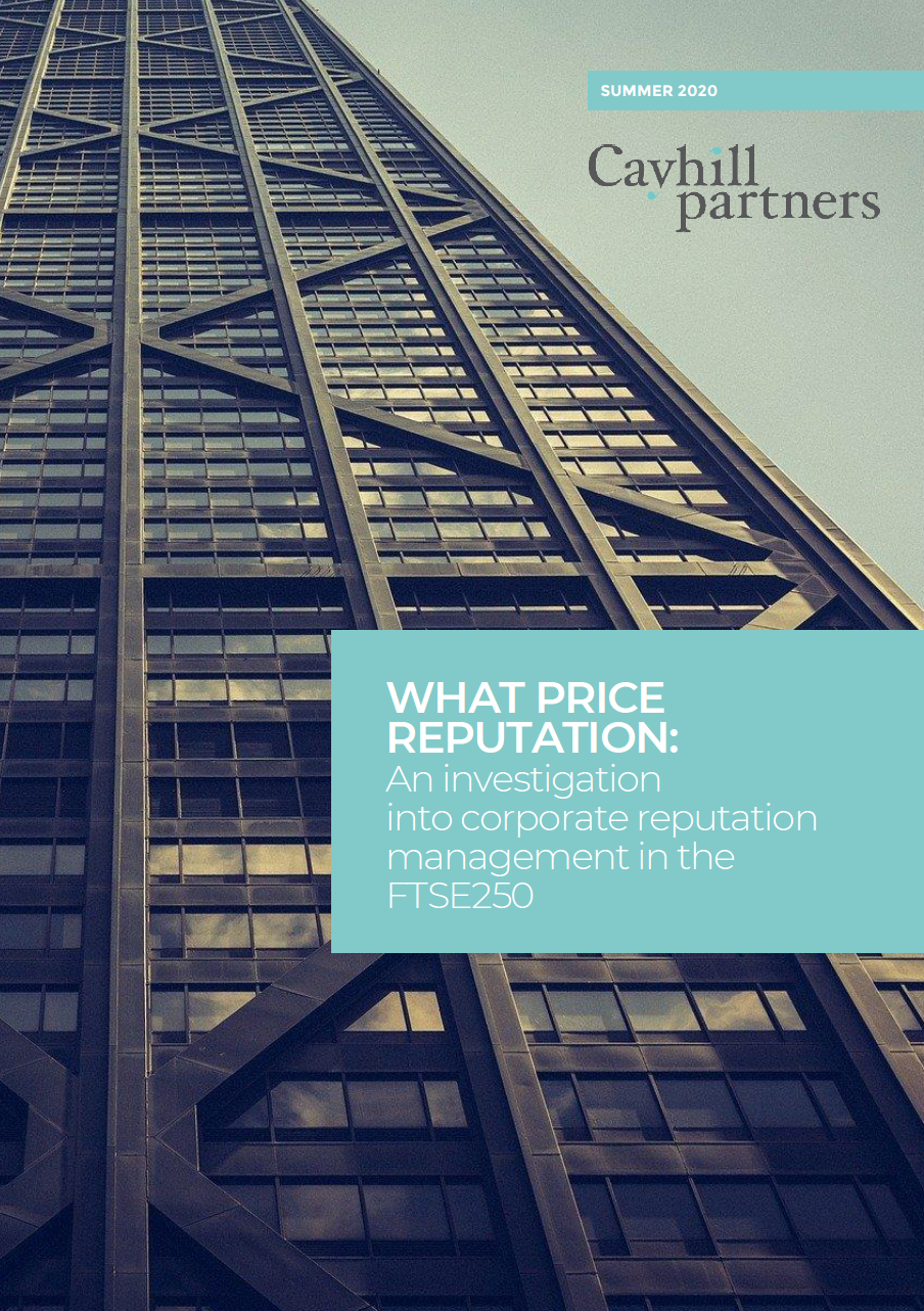What Price Reputation report by Cayhill Partners